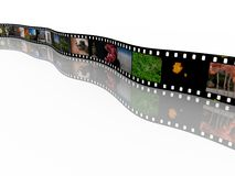 35mm film with images Royalty Free Stock Photos