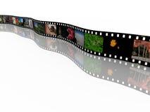 35mm film met beelden Royalty-vrije Stock Foto's