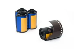 35mm film roll Stock Image