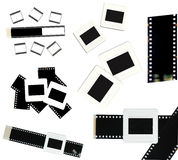 35mm film and slide frame isolated Royalty Free Stock Images