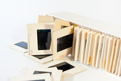 35mm film slides Stock Photos