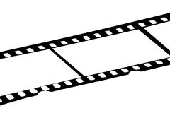 35mm film strip. Strip of 35mm film edited to remove copyright logo and images Royalty Free Stock Photography