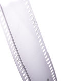 35mm film strip. Isolated on white Stock Photos