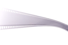 35mm film strip. Isolated on white Royalty Free Stock Photo