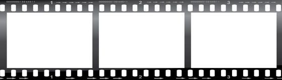 35mm film strip. A 35mm film strip with three frames Stock Photography