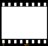 35mm film strip frame frames. 35mm film strip with numbers 32 - 32A showing on black frame Royalty Free Stock Image