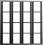35mm film strip frames frame. 35mm film strip showing 16 black frames which could be used as a story board Royalty Free Stock Photos