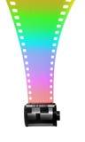 35mm Filmstrip voor kleur Stock Afbeeldingen