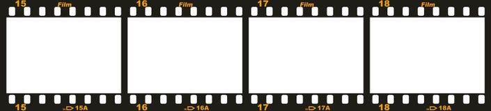 35mm filmstrook Stock Afbeeldingen