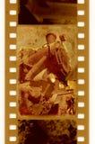 35mm frame foto met oude trein Stock Afbeelding