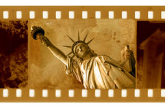 35mm frame  with NY Statue of Liberty. Old 35mm frame photo with NY Statue of Liberty Stock Images