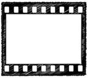 35mm frame schets Royalty-vrije Stock Foto