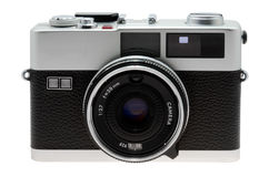 35mm geïsoleerde fotocamera Stock Afbeelding