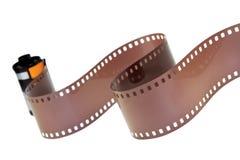 35mm klassiek negatief geïsoleerd filmbroodje Stock Afbeeldingen