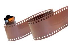 35mm klassiek negatief geïsoleerd filmbroodje Stock Fotografie