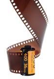 35mm klassiek negatief geïsoleerde filmbroodje Stock Afbeeldingen