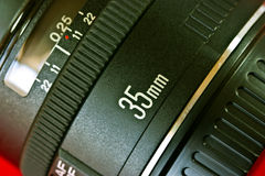 35mm lens Royalty-vrije Stock Fotografie