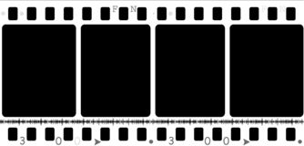 35mm movie Film Stock Photo
