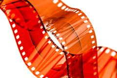 35mm negative film strip Royalty Free Stock Images