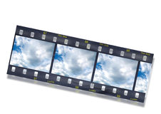 35mm slide. Computer generated film strip Royalty Free Stock Images