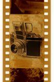 35mm with vintage photo camera Royalty Free Stock Image