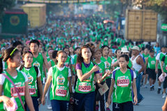 35th Milo Marathon Philippines. Cagayan de Oro, Philippines- October 16,2011 35th Milo Marathon the longest footrace in the Philippines participated by 5,000 stock image