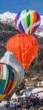 35to festival del globo del aire caliente 2013, Suiza Imagen de archivo libre de regalías