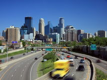 35w autostrada Minneapolis Zdjęcie Stock