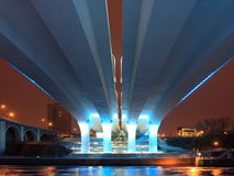 35w bridge minneapolis misssissippi over river Στοκ φωτογραφία με δικαίωμα ελεύθερης χρήσης