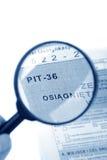 36份表单坑波兰税务 免版税库存照片