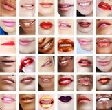 36片接近的嘴唇上升妇女 库存照片