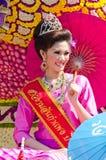 36$ο γυναικείο χαμόγελο λουλουδιών φεστιβάλ chiangmai Στοκ εικόνες με δικαίωμα ελεύθερης χρήσης