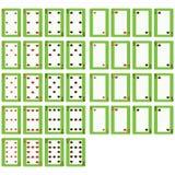 36 играя карточек Стоковое Фото