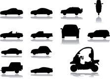 36 установленных икон автомобилей Стоковое Изображение RF