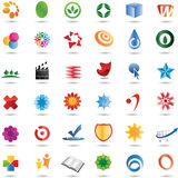 36五颜六色的设计徽标集合向量 库存图片