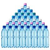 36 bouteilles Photographie stock