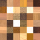 36 different wood samples. A large amount of different wood samples Royalty Free Stock Photography