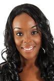 36 headshot piękna czarny kobieta Fotografia Stock
