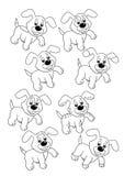 36 hundar equal lek två royaltyfri illustrationer