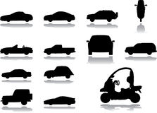 36 inställda bilsymboler Royaltyfri Bild