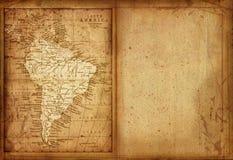 36 kaart van Zuid-Amerika Stock Foto's