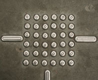 36 metal dots Royalty Free Stock Images