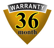 36 month warranty shield. Vector art of a Stock Photo