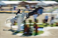 36.o Salto magnífico de la demostración de Postova Banka-Peugeot Prix Fotos de archivo