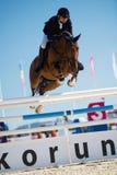 36.o Salto magnífico de la demostración de Postova Banka-Peugeot Prix Imagenes de archivo