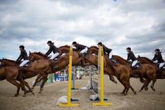 36.o Salto magnífico de la demostración de Postova Banka-Peugeot Prix Imagen de archivo libre de regalías