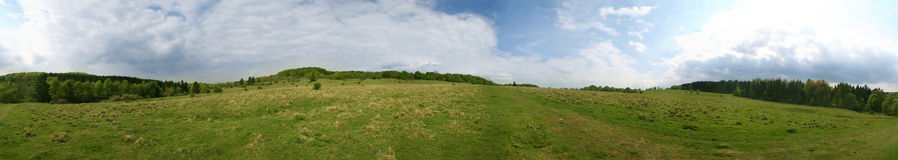 360° panorama of a meadow Stock Photo