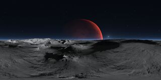 Free 360 Degree Panorama Of Phobos With The Red Planet Mars In The Background, Environment HDRI Map. Equirectangular Projection Stock Photos - 191888573