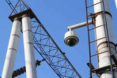360-degree surveillance cameras Stock Images