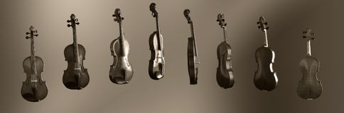 The 360 degree Violin Stock Photography